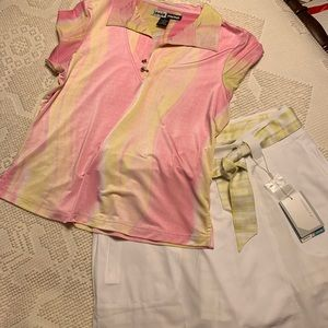 Golfers top and skort set size medium